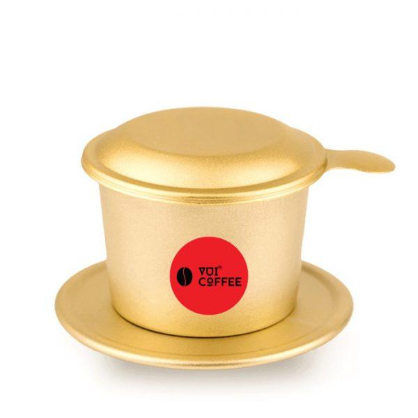 Phin cà phê nhôm xi vàng