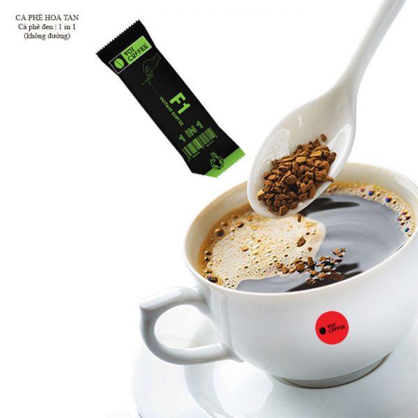 Cà phê hoà tan 1 trong 1 cho gu đen không đường