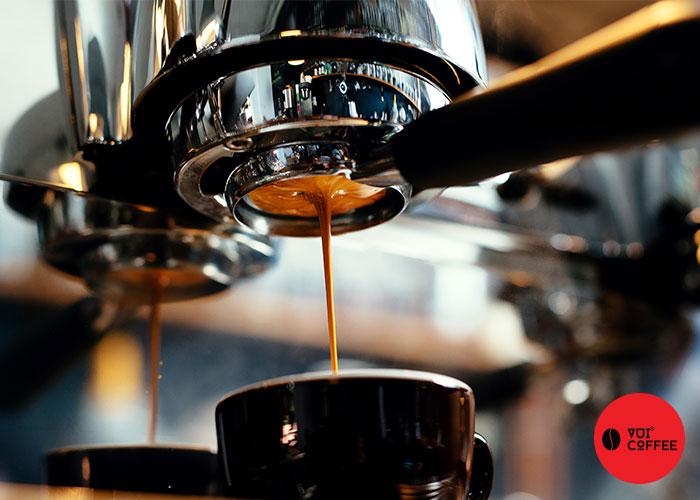 Dùng máy pha cà phê chồn