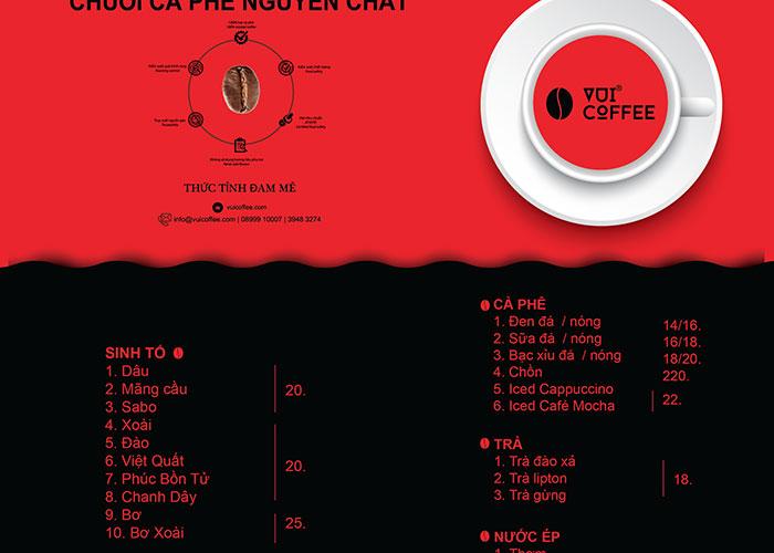 Quán cà phê rang xay có thức uống đa dạng