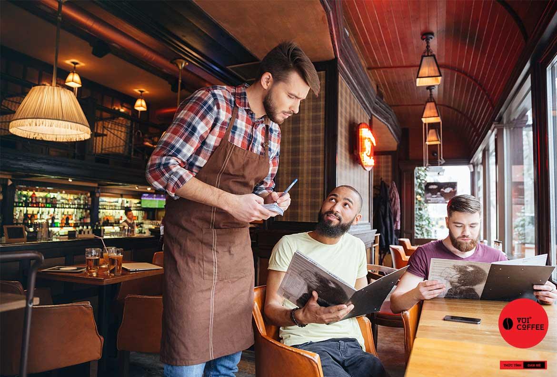 Quy trình đào tạo phục vụ cà phê